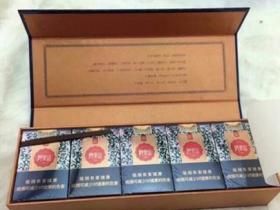 木盒软阿里山景泰蓝香烟